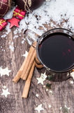 Homemade mulled wine Stock Image