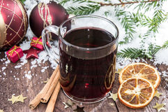 Homemade mulled wine Royalty Free Stock Image