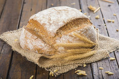 Homemade multigrain sourdough bread Stock Photography