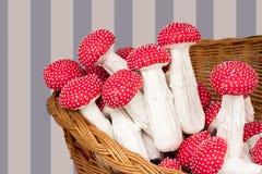 Homemade mushroom-shaped cookies Royalty Free Stock Photos