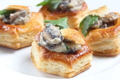Homemade mushroom vol-au-vents Royalty Free Stock Images