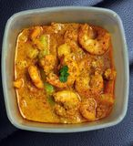 Homemade Mustard Prawn curry, Bengali dish Royalty Free Stock Images