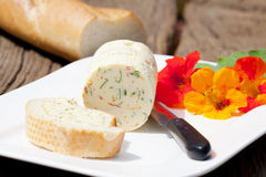 Homemade nasturtium herb butter Stock Images