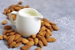 Homemade natural almond milk. Stock Image