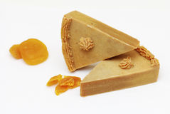 Homemade natural apricot soap Stock Image
