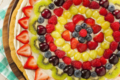 Homemade Natural Fruit Pizza Stock Photos