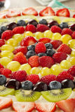 Homemade Natural Fruit Pizza Royalty Free Stock Image