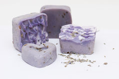 Homemade natural lavender soap Royalty Free Stock Photography
