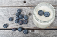 Homemade natural yogurt Stock Image