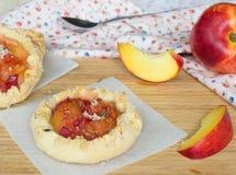 Homemade nectarine pies Stock Photo