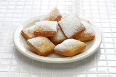 Homemade new orleans beignet Stock Images