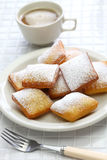 Homemade new orleans beignet Stock Photography