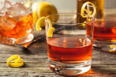 Homemade New Orleans Sazerac Cocktail Royalty Free Stock Photo