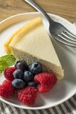 Homemade New York Cheesecake stock photography
