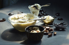 Homemade no churn peanut butter cup ice cream Royalty Free Stock Images