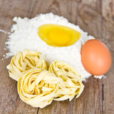Homemade noodles Royalty Free Stock Images