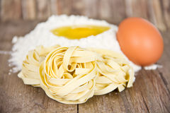 Homemade noodles Stock Photo