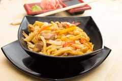 Homemade noodles with meat Royalty Free Stock Image