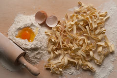 Homemade noodles Stock Image