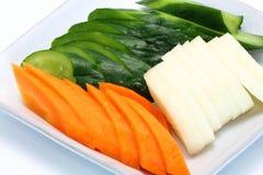 Japanese food,Tsukemono,Japanese pickled vegetables. Homemade nukazuke, bran pickled vegetables, japanese traditional food Royalty Free Stock Image