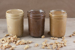 Homemade Nut Butters Royalty Free Stock Photos