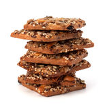 Homemade nut cookies Royalty Free Stock Images