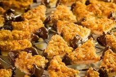 Homemade nut edges cookies Stock Photo