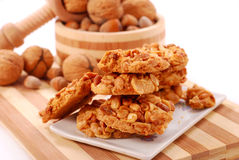 Homemade nuts cookies Royalty Free Stock Photos