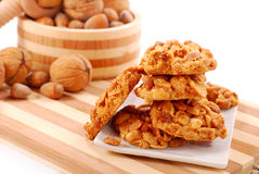 Homemade nuts cookies Royalty Free Stock Photography