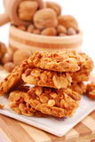 Homemade nuts cookies Royalty Free Stock Images