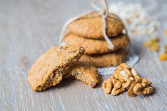 Homemade oat biscuit Royalty Free Stock Image