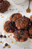 Homemade oat biscuits on parchment Royalty Free Stock Photography