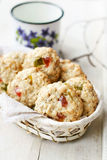 Homemade oatmeal cookies Royalty Free Stock Images