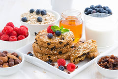 Homemade Oatmeal Cookies For A Healthy Breakfast Stock Images