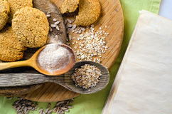 Homemade oatmeal cookies Royalty Free Stock Photos