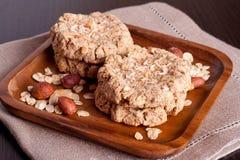 Homemade oatmeal cookies. Horizontal, close-up Stock Photo