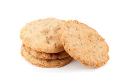 Homemade oatmeal cookies isolated on white. Background Stock Photography