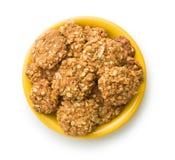 Homemade oatmeal cookies. Royalty Free Stock Photos