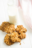Homemade oatmeal cookies. Stock Photo