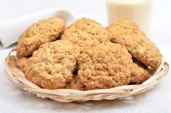 Homemade oatmeal cookies and milkshake Stock Image