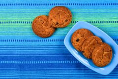 Homemade oatmeal cookies with raisins Stock Image