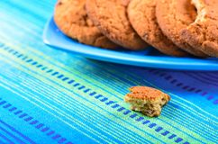 Homemade oatmeal cookies with raisins Stock Photography