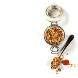 Homemade oatmeal granola with fruits and nuts Stock Photography