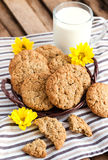 Homemade oatmeal peanut butter cookies Royalty Free Stock Images