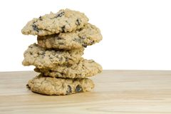 Homemade Oatmeal Raisen Cookies Stock Images