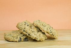 Homemade Oatmeal Raisin Cookies Royalty Free Stock Image