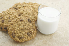 Homemade Oatmeal Raisin Cookies Stock Image