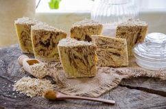 Homemade oats soap Royalty Free Stock Image