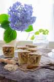 Homemade oats soap Royalty Free Stock Photos