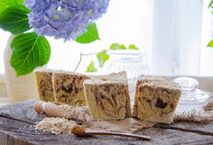 Homemade oats soap Royalty Free Stock Images
